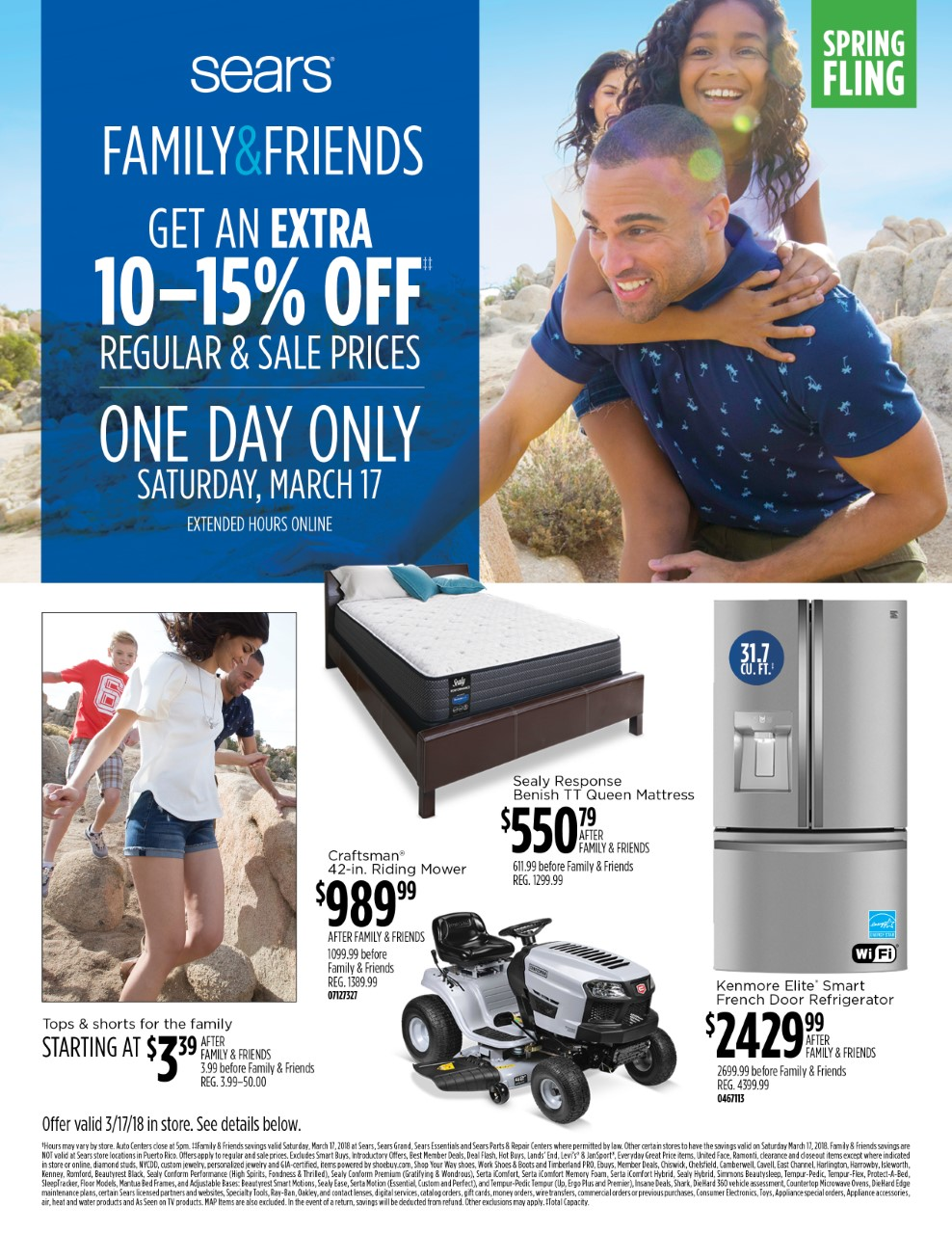 Sears Friends & Family Savings