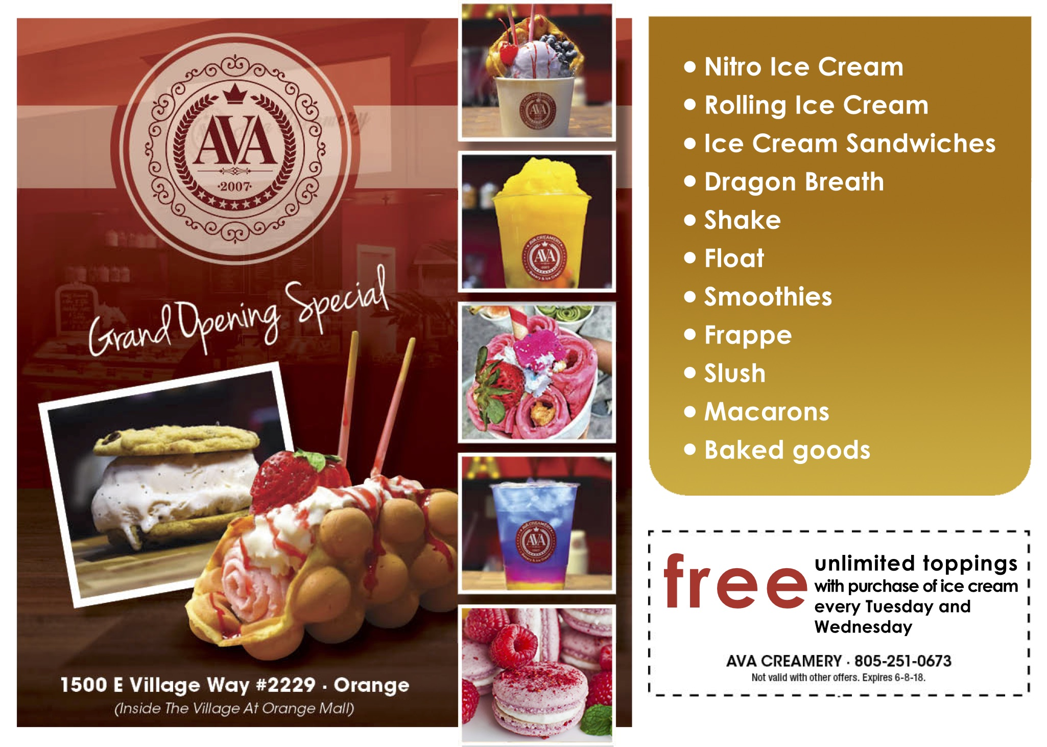 Grand Opening Special at Ava Creamery