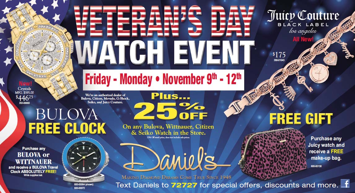 VETERAN'S WEEKEND WATCH EVENT