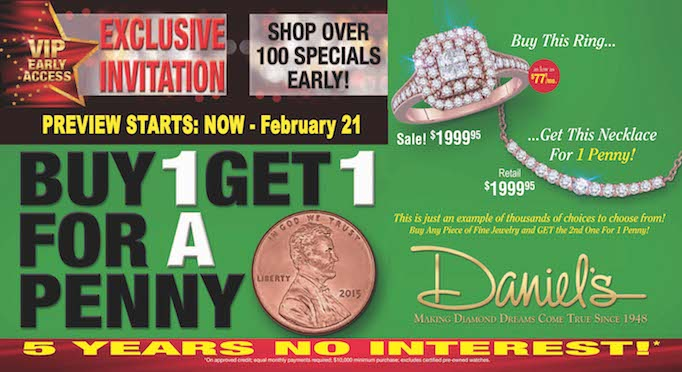VIP Early Access Exclusive Invitation at Daniel's Jewelers