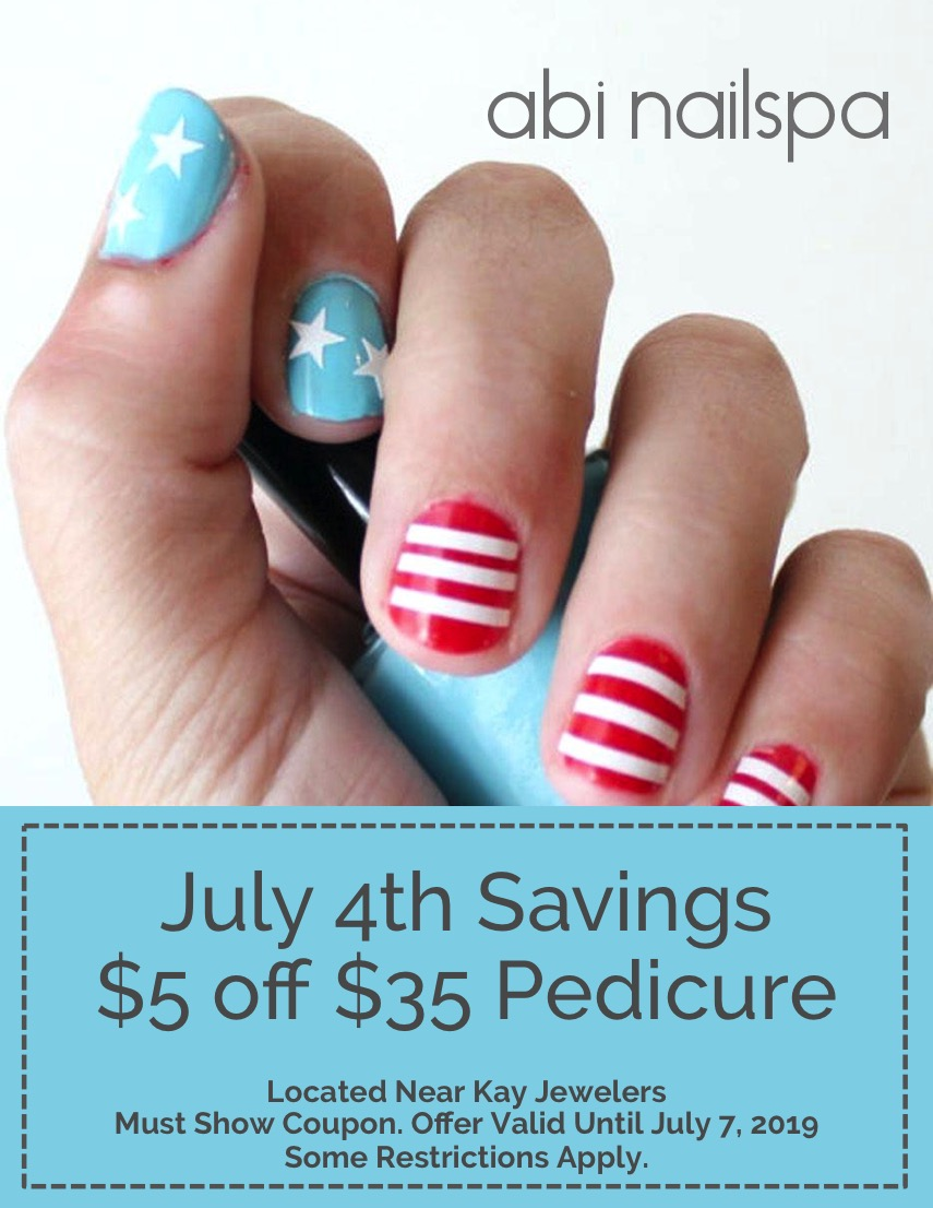 4th of July Savings at abi nailspa!