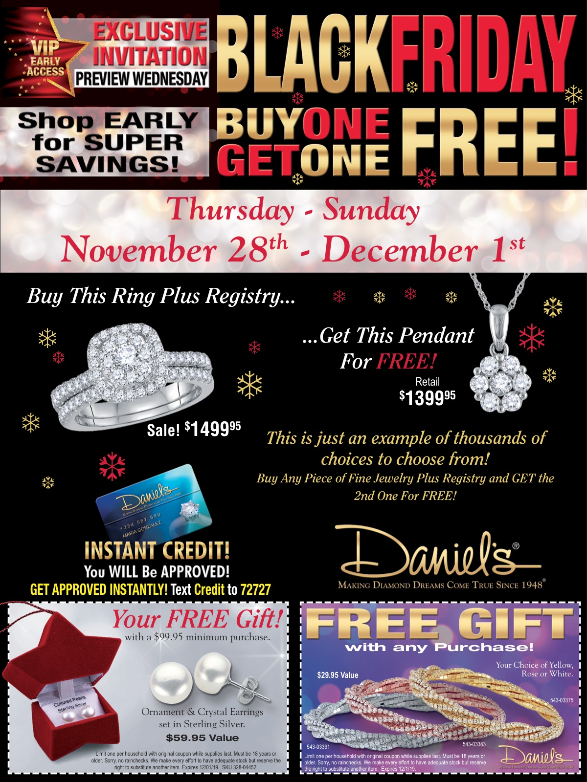 Daniel's Jewelers BLACK FRIDAY BOGO SALE