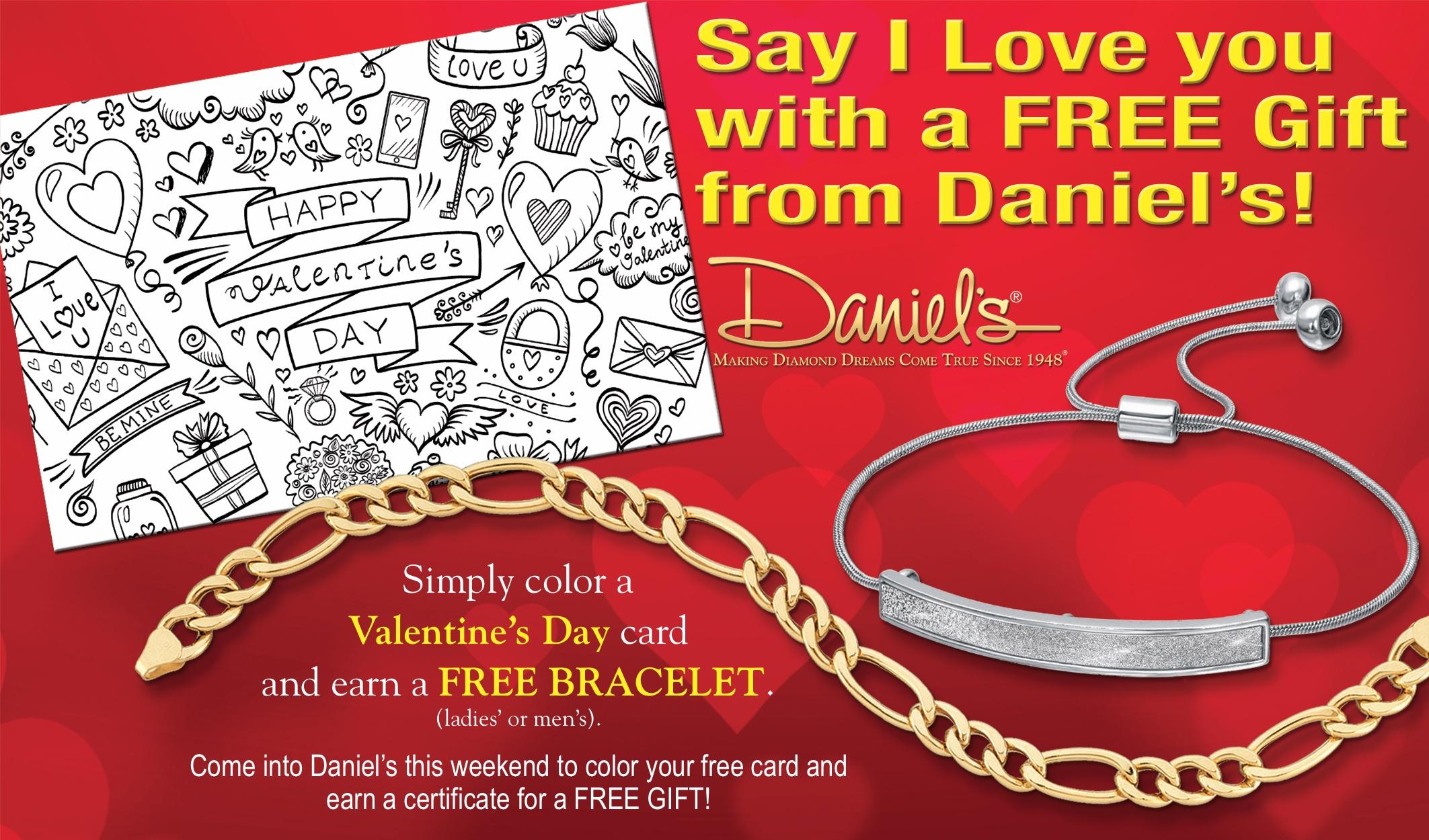 Daniel's Jewelers VALENTINE'S CARD & FREE GIFT