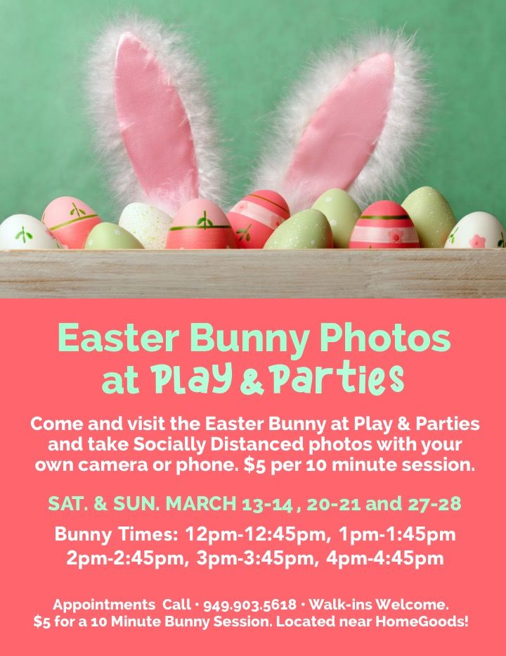 Easter Bunny Photos at Play & Parties