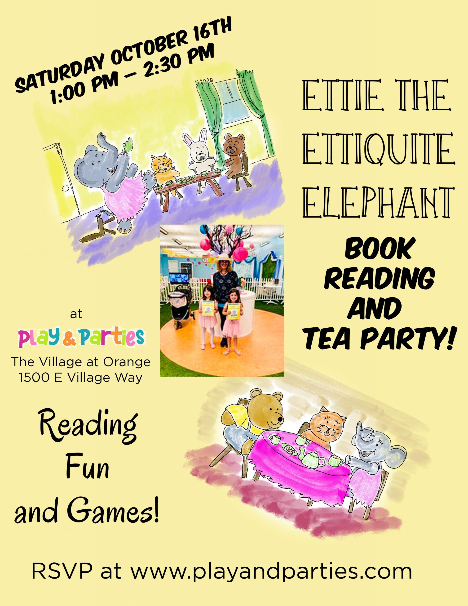 Ettie The Etiquette Elephant Tea Party
